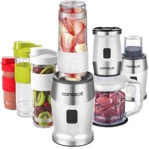 Concept Fresh&Nutri Bílý smoothie mixér, chopper, mlýnek + 2 lahve 570ml+400ml
