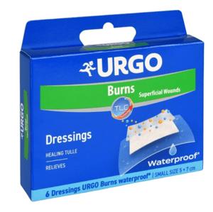 URGO Burns Voděodolné náplasti na popáleniny 5x7cm 6ks