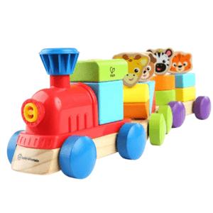 BABY EINSTEIN Hračka dřevěná Discovery Train HAPE,18m+