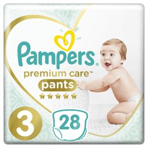Pampers Plenkové Kalhotky Premium Care Velikost 3 28ks