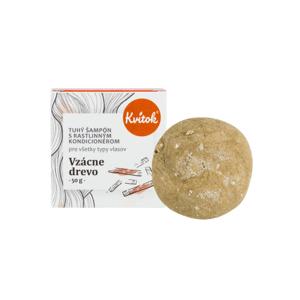 Kvitok Tuhý šampon s kondicionérem pro tmavé vlasy Vzácné dřevo XXL 50g