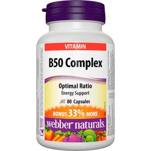 Webber Naturals B50 Complex 80 kapslí