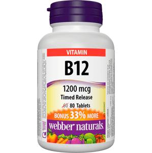 Webber Naturals Vitamín B12 1200mcg 80 tablet