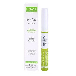 Uriage Tyčinka na kožní nedokonalosti Hyséac Bi-Stick (Anti-Blemish Stick) 3ml/1g