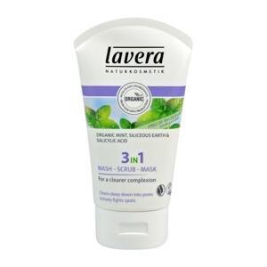 Lavera  3 v 1 očista & peeling & maska, Faces, 125ml