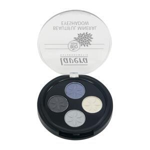 Lavera  Oční stíny QUATRO 07 modrá platina, Trend Sensitiv, 3,2g