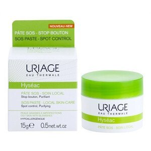 Uriage Lokální péče na noc proti nedokonalostem aknózní pleti Hyséac (SOS Paste Local Skin-Care) 15ml