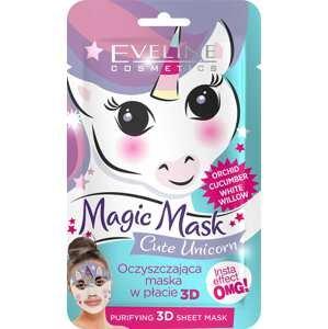 Eveline Cosmetics  Eveline Magic mask – Čisticí textilní maska jednorožec