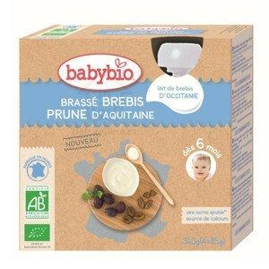 BABYBIO svačinka z ovčího mléka švestka 4 x 85 g