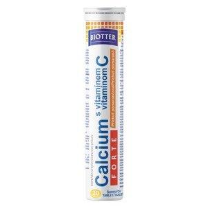 Biotter Calcium s vitaminem C pomeranč 20 šumivých tablet