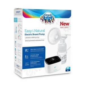 Canpol babies Elektrická odsávačka mateřského mléka EasyNatural + dárek