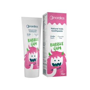 NORDICS Dětská přírodní Zubní pasta Bubble Gum 50ml