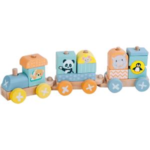 Sun baby Dřevěná lokomotiva+2 vagóny