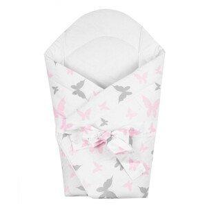 New Baby Dětská zavinovačka motýli, bílá