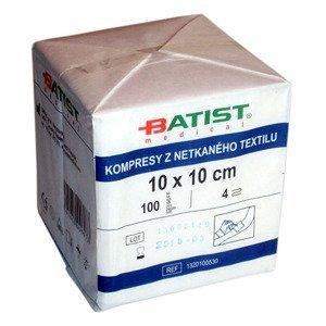 Batist  Kompres z netkaného textilu 10x10cm nesteri.100ks