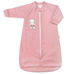 New Baby Kojenecký froté spací pytel medvídek růžový vel.80