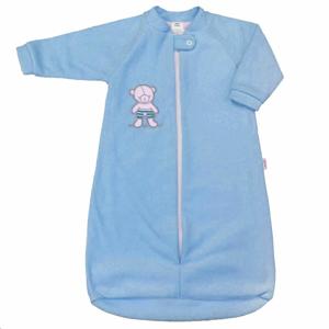 New Baby Kojenecký froté spací pytel medvídek modrý
