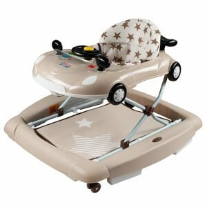 Dětské chodítko s houpačkou a silikonovými kolečky New Baby Little Racing Car 1ks
