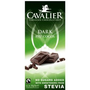 Cavalier Čokoláda DARK 85% (slazená stévií) 85g