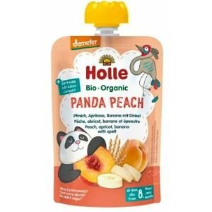 Holle Bio pyré - Panda Peach-Broskev, meruňka a banán se špaldou 100g