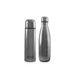 Miniland Sada termosky a termoláhve DeLuxe stříbrná 2x500ml