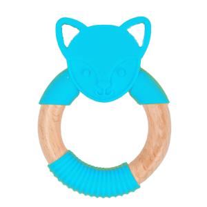 Bo Jungle Kousátko B-TEETHER ANIMAL WOOD Blue Fox