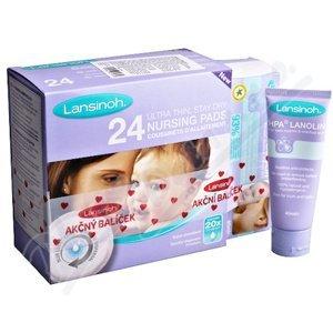 Lansinoh COMBI PACK HPA lanolin 40 ml & vložky do podprsenky 24ks