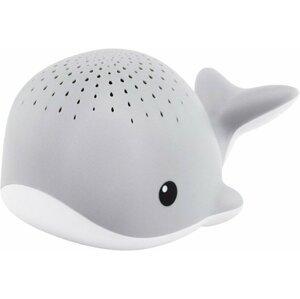 ZAZU Velryba WALLY šedá - noční projektor s melodiemi