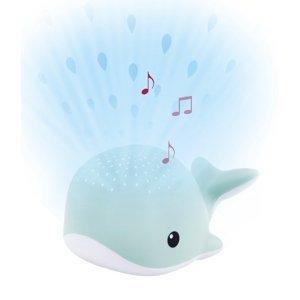 ZAZU Velryba WALLY modrá - noční projektor s melodiemi