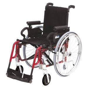 DMA Basic light plus Invalidní vozík šířka sedu 42 cm červený