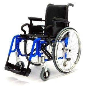 DMA Basic light plus Invalidní vozík variabilní šířka sedu 39 cm Modrý