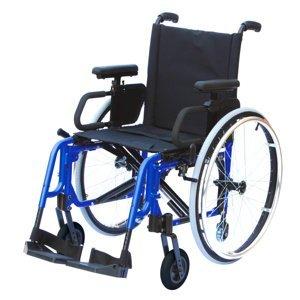 DMA basic light classic Invalidní vozík variabilní šířka sedu 39 cm Modrý