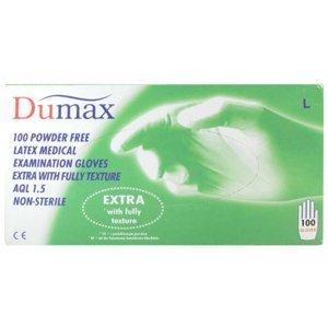 Dumax vyšetř.latex.nester.nepudr.rukavice L/100ks