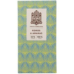 Ajala Bio čokoláda 53% kokos a ananas 45g