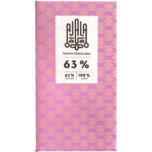 Ajala Bio čokoláda 63% tmavá výběrové boby 45g