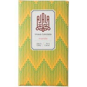 Ajala Bio čokoláda 70% s mandlemi výběrové boby 45g