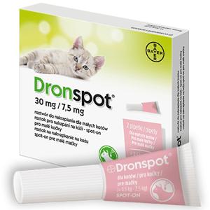 Dronspot 30mg/7.5mg Malé kočky spot-on 2x 0,35ml