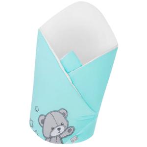Belisima Baby  Belisima Zavinovačka s výztuží Teddy Bear tyrkysová