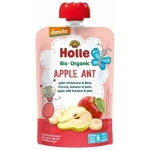 Holle Bio pyré - Apple Ant - Jablko a banán s hruškou 100g