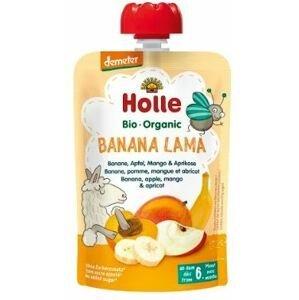 Holle Bio pyré - Banana Lama - Banán, jablko, mango a meruňka 100g