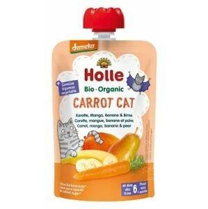 Holle Bio pyré - Carrot Cat- Mrkev, mango, banán a hruška 100g