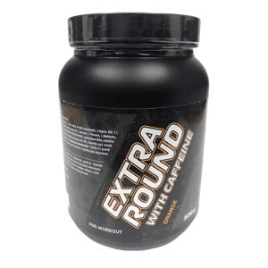 Bear Foot Nutrition  BEAR FOOT, EXTRAROUND S KOFEINEM, PŘEDTRÉNINKOVÁ SMĚS, 500 G, Pomeranč