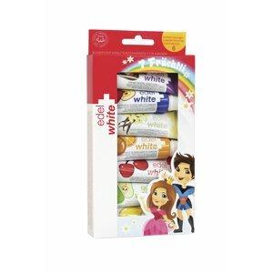 EDEL+WHITE Ovocné zubní pasty pro děti 7ks x 9.3ml