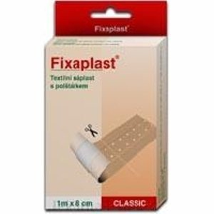 Náplast Fixaplast Classic text.s polšt. 1mx8cm