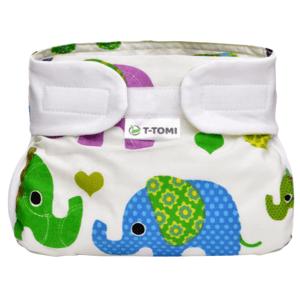 T-tomi Ortopedické abdukční kalhotky - suchý zip,green elephants,3-6kg