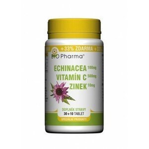 BIO Pharma Echinacea 100mg+VitamínC 500mg+Zinek10mg 30+10 tablet