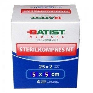 Batist  Sterilkompres NT 5x5cm/4 vrstvy 25x2ks