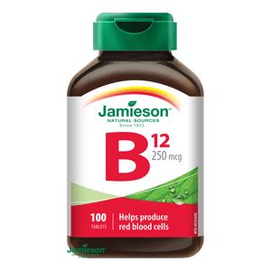 Jamieson Vitamín B12 metylkobalamín 250mcg 100 tablet