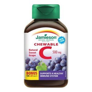 Jamieson Vitamín C 500mg tablety na cucání s příchutí hrozna 120 tablet