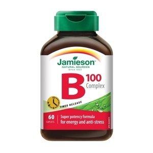 Jamieson B-komplex 100mg s postupným uvolňováním 60 tablet